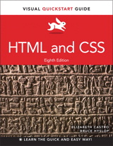 HTML and CSS Visual Quickstart Guide book cover